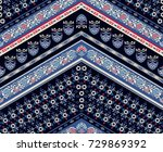 cool ethnic geometric design.... | Shutterstock .eps vector #729869392