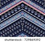 cool ethnic geometric design.... | Shutterstock .eps vector #729869392