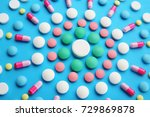 composition with different... | Shutterstock . vector #729869878