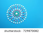 composition with different... | Shutterstock . vector #729870082