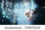 businessman on blurred... | Shutterstock . vector #729872425