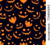 pumpkin background halloween... | Shutterstock . vector #729890092