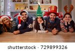 christmas holiday   group of... | Shutterstock . vector #729899326
