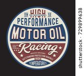 racing motor oil typography ... | Shutterstock .eps vector #729899638