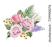 watercolor illustration of... | Shutterstock . vector #729900076