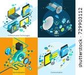 telecom network mobile... | Shutterstock . vector #729903112
