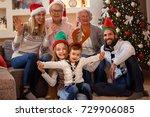 portrait of happy smiling...   Shutterstock . vector #729906085
