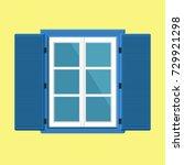 flat window icon. vector... | Shutterstock .eps vector #729921298