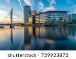 sunset evening media city...   Shutterstock . vector #729923872