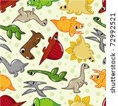 seamless dinosaur pattern | Shutterstock .eps vector #72992521