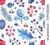 watercolor seamless pattern... | Shutterstock . vector #729928288