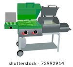 combination gas grill and...   Shutterstock .eps vector #72992914