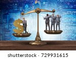 difference between rich and... | Shutterstock . vector #729931615