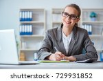 young businesswoman accountant... | Shutterstock . vector #729931852
