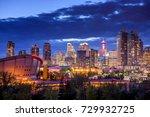 Calgary city skyline at night