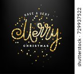 christmas greeting card | Shutterstock .eps vector #729937522