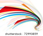Abstract Colorful Wave Line...