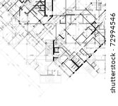 vector architectural black and... | Shutterstock .eps vector #72994546