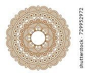 indian henna mehendi ornament... | Shutterstock .eps vector #729952972