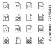 file format icon set. line... | Shutterstock .eps vector #729953896