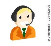operator avatar  customer... | Shutterstock . vector #729953908