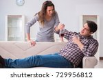 drinking problem drunk husband... | Shutterstock . vector #729956812