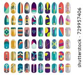 set of colored painted nails.... | Shutterstock . vector #729957406