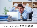 funny accountant bookkeeper... | Shutterstock . vector #729963232