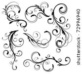 vector illustration set of... | Shutterstock .eps vector #72996940