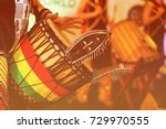 colorful conga drum for party... | Shutterstock . vector #729970555