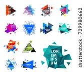 sacred geometry triangle... | Shutterstock .eps vector #729980662