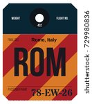vintage luggage tag. real... | Shutterstock .eps vector #729980836