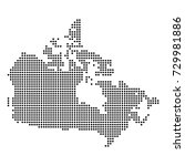 dotted map of canada | Shutterstock .eps vector #729981886