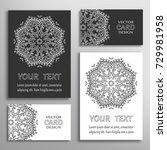 black and white mandala sign... | Shutterstock .eps vector #729981958