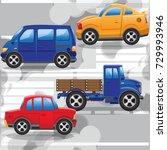 road traffic. air pollution....   Shutterstock .eps vector #729993946