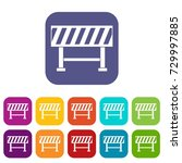 traffic barrier icons set ... | Shutterstock . vector #729997885