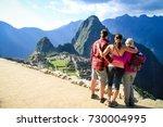 machu picchu unesco world... | Shutterstock . vector #730004995