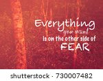 inspire quotation  everything... | Shutterstock . vector #730007482