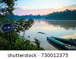 amazon river in puerto... | Shutterstock . vector #730012375