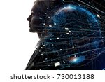ai artificial intelligence ... | Shutterstock . vector #730013188