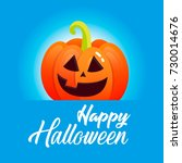 bright banner with pumpkins for ... | Shutterstock .eps vector #730014676