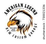 american legend .new custom... | Shutterstock .eps vector #730021336