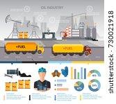 oil industry infographics... | Shutterstock .eps vector #730021918