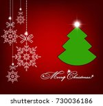 christmas background with... | Shutterstock .eps vector #730036186