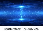 abstract vector blue technology ... | Shutterstock .eps vector #730037926