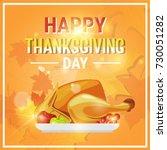 happy thanksgiving day autumn...   Shutterstock .eps vector #730051282