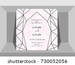 contemporary wedding... | Shutterstock .eps vector #730052056