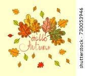 hello autumn season banner with ...   Shutterstock .eps vector #730053946