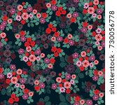 seamless abstract floral... | Shutterstock . vector #730056778