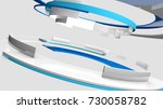3d glossy reflective white and... | Shutterstock . vector #730058782